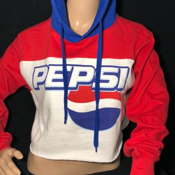 9e8f32a8e706b8 Pepsi Crop Hoodie. NWT